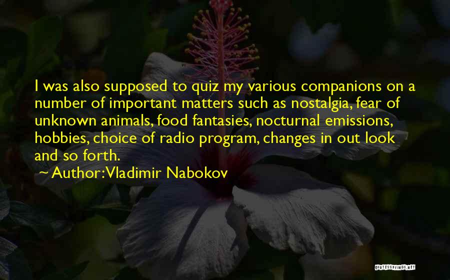 Various Inspirational Quotes By Vladimir Nabokov