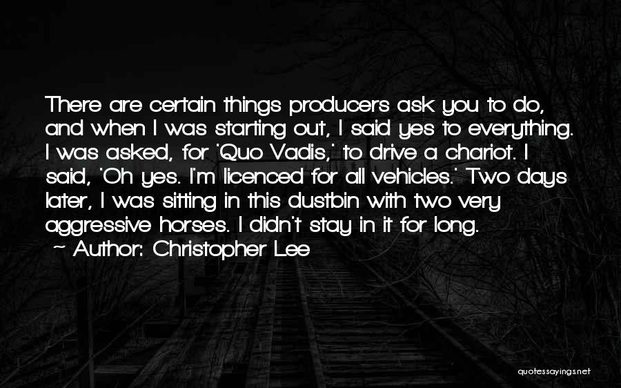Vehicles Quotes By Christopher Lee