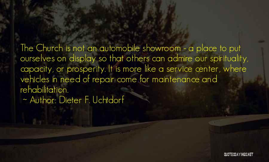Vehicles Quotes By Dieter F. Uchtdorf
