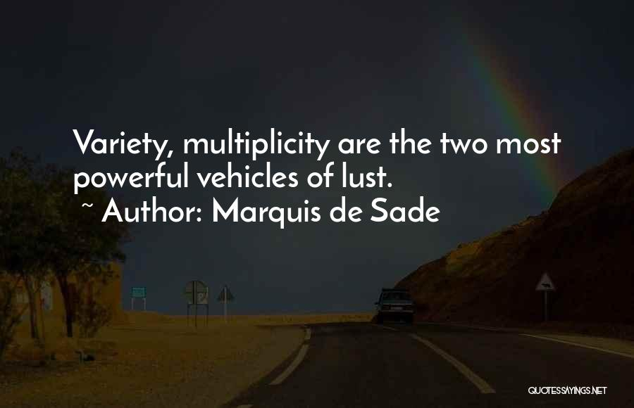 Vehicles Quotes By Marquis De Sade