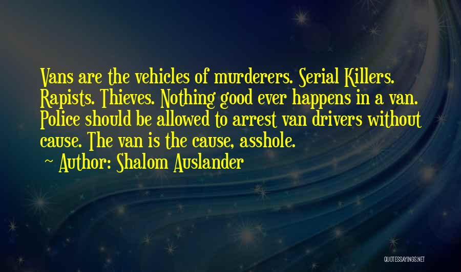 Vehicles Quotes By Shalom Auslander