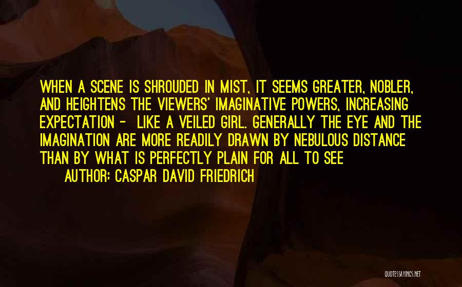Veiled Quotes By Caspar David Friedrich