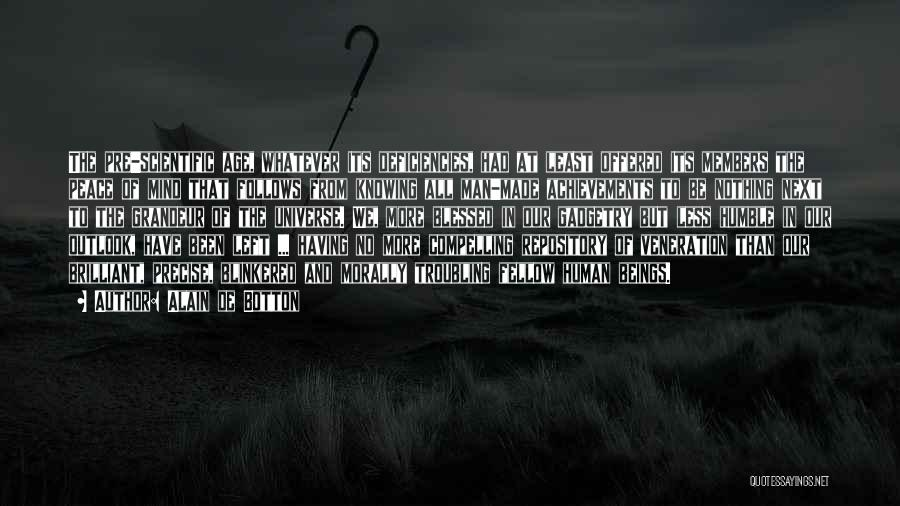 Veneration Quotes By Alain De Botton