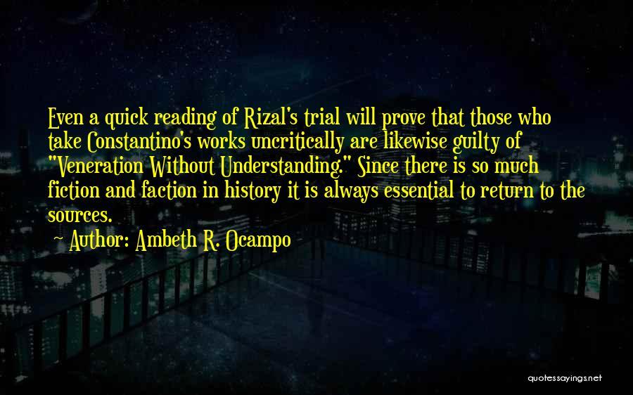 Veneration Quotes By Ambeth R. Ocampo