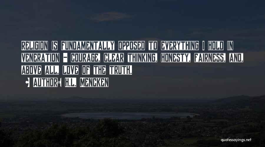 Veneration Quotes By H.L. Mencken