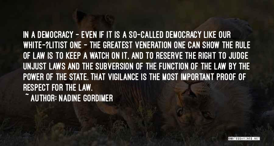 Veneration Quotes By Nadine Gordimer