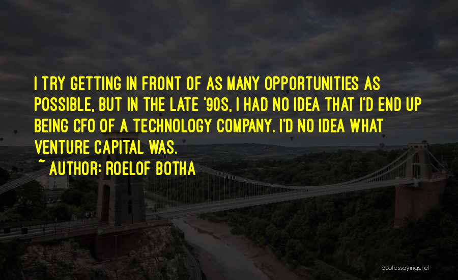 Venture Capital Quotes By Roelof Botha
