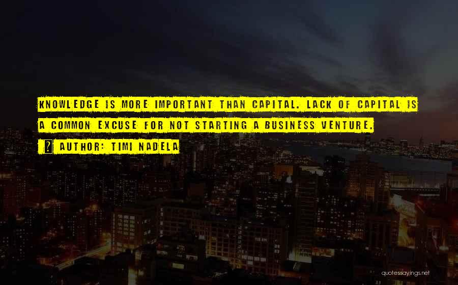 Venture Capital Quotes By Timi Nadela