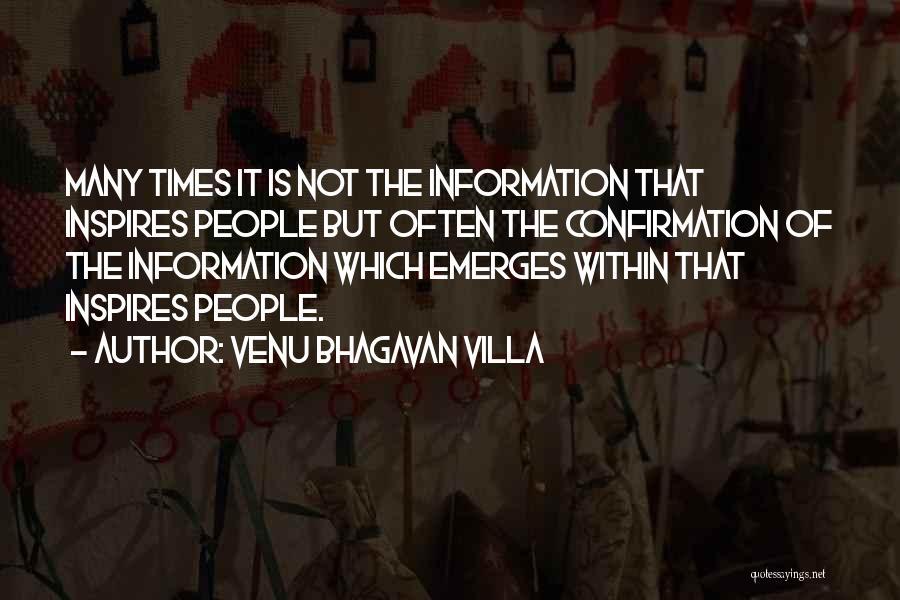 Venu Bhagavan Quotes By Venu Bhagavan Villa