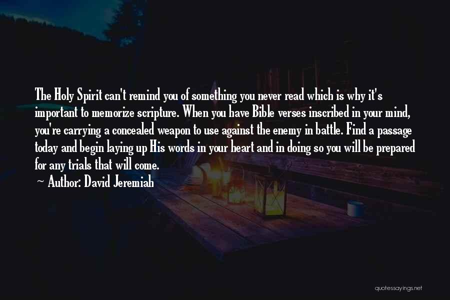 Verses Quotes By David Jeremiah
