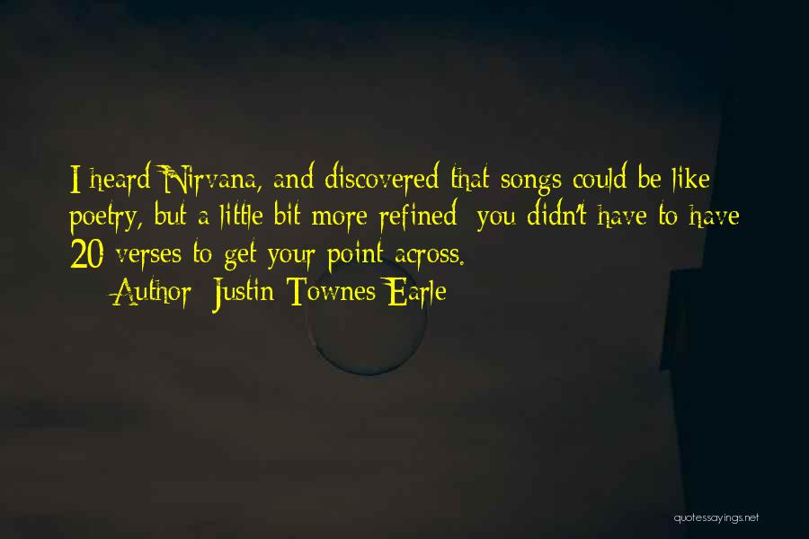 Verses Quotes By Justin Townes Earle