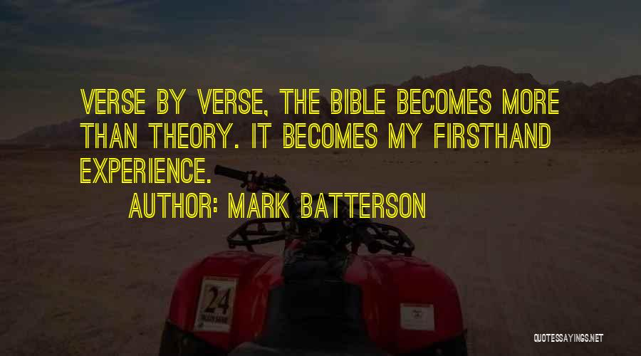 Verses Quotes By Mark Batterson