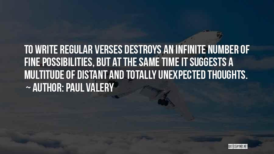 Verses Quotes By Paul Valery