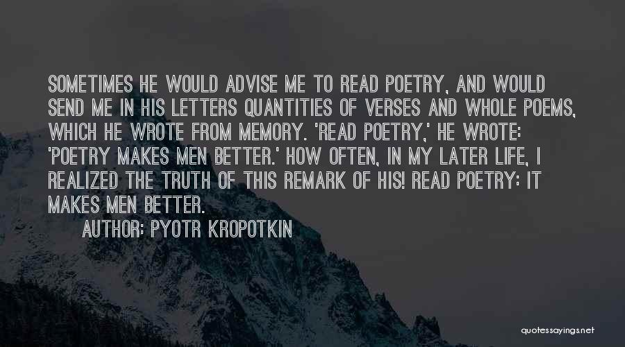 Verses Quotes By Pyotr Kropotkin