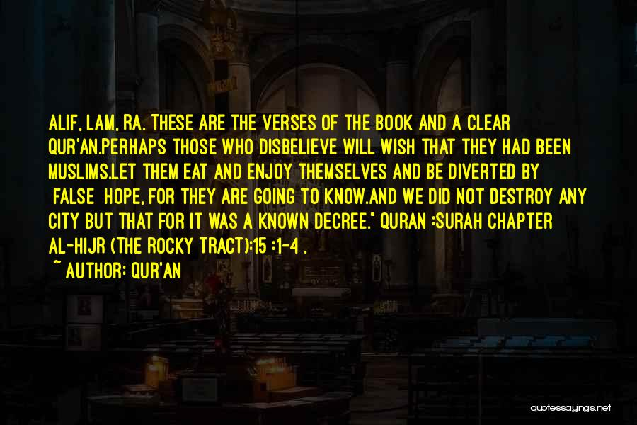 Verses Quotes By Qur'an