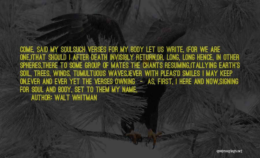 Verses Quotes By Walt Whitman