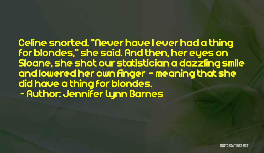Very Cute Smile Quotes By Jennifer Lynn Barnes
