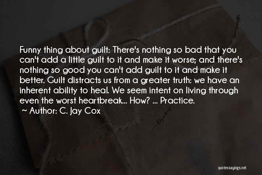 Very Funny Inspirational Quotes By C. Jay Cox
