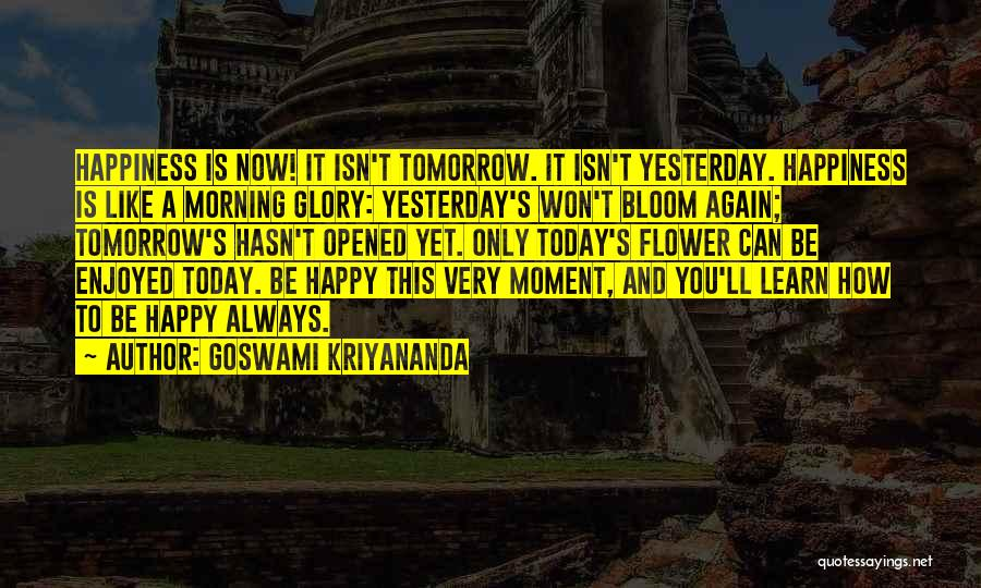 Very Happy Moment Quotes By Goswami Kriyananda