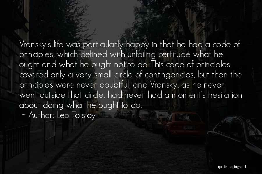 Very Happy Moment Quotes By Leo Tolstoy
