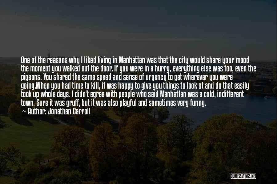 Very Happy Mood Quotes By Jonathan Carroll