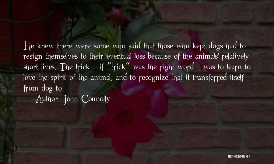 Very Short Dog Quotes By John Connolly