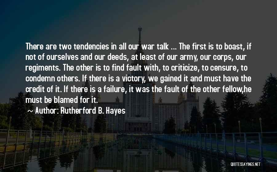 Victory And Failure Quotes By Rutherford B. Hayes