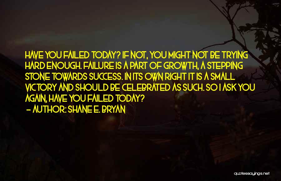 Victory And Failure Quotes By Shane E. Bryan
