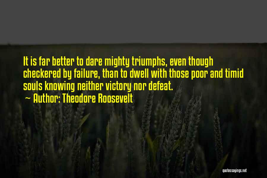 Victory And Failure Quotes By Theodore Roosevelt