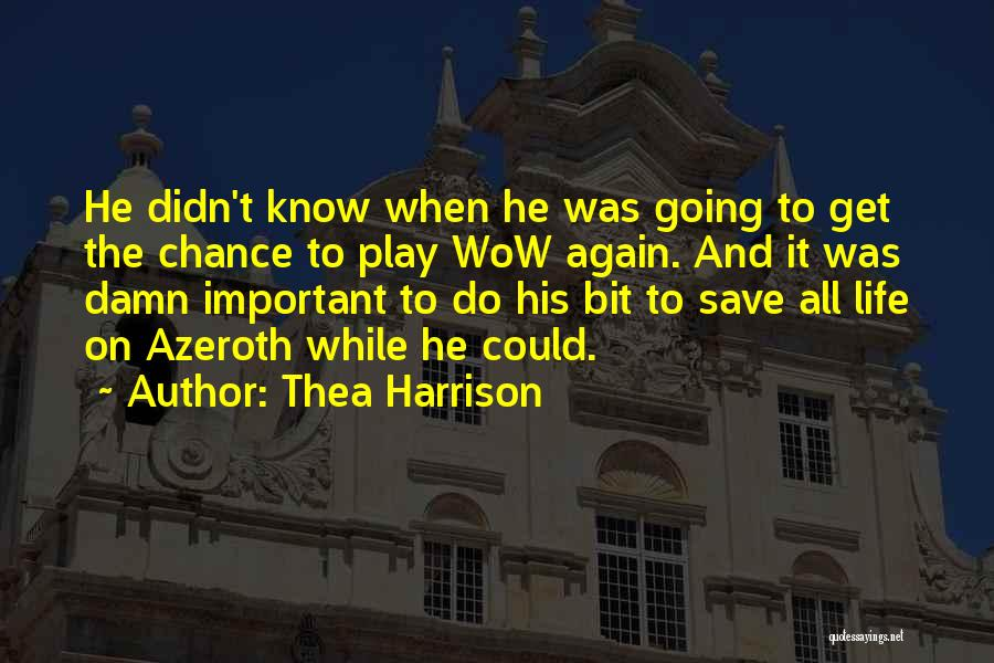 Video Games And Life Quotes By Thea Harrison