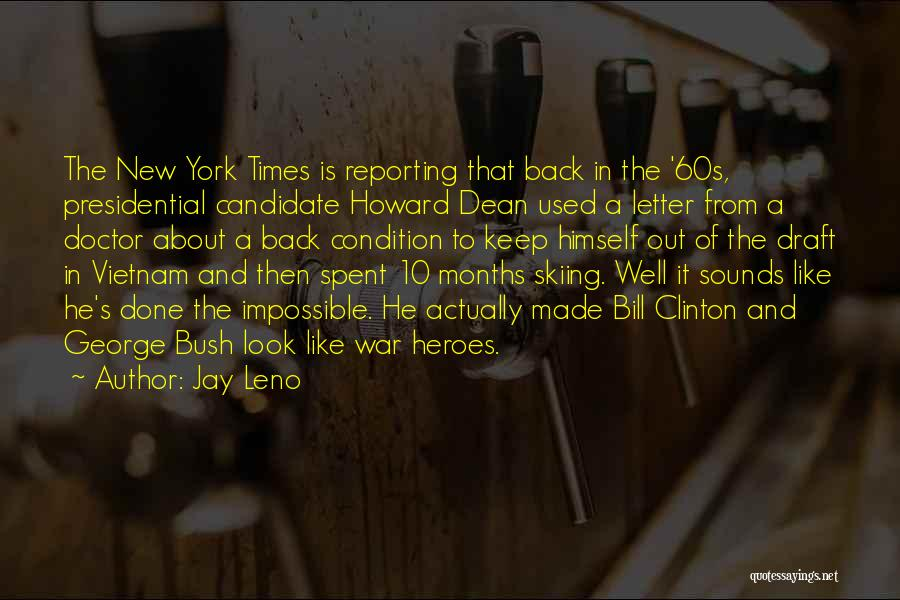Vietnam War Draft Quotes By Jay Leno