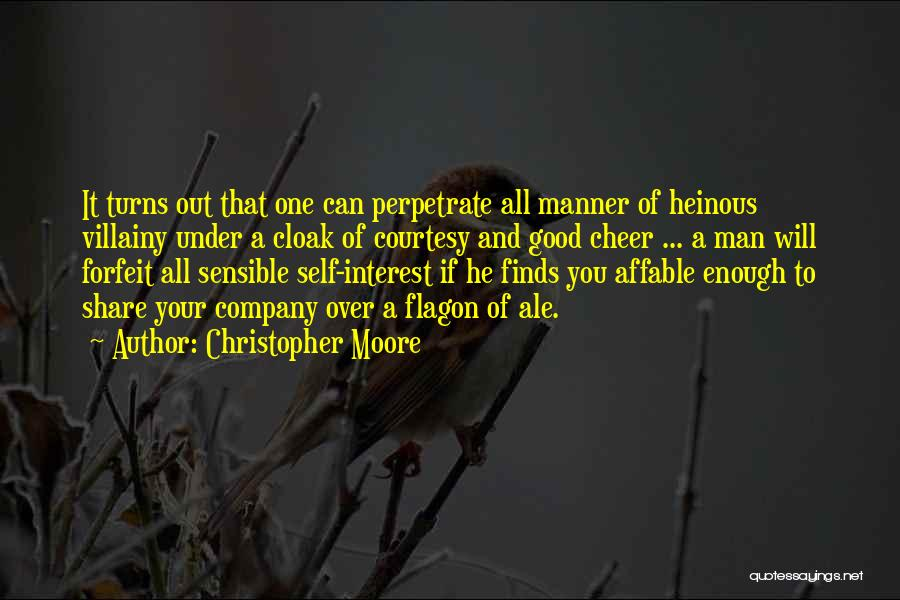 Villainy Quotes By Christopher Moore