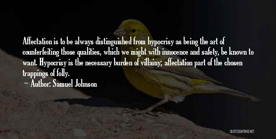Villainy Quotes By Samuel Johnson