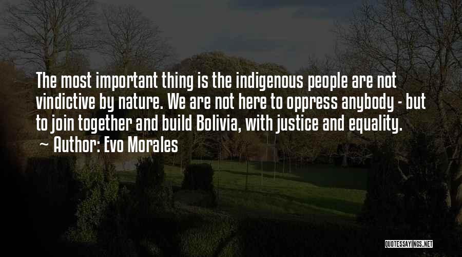 Vindictive Quotes By Evo Morales