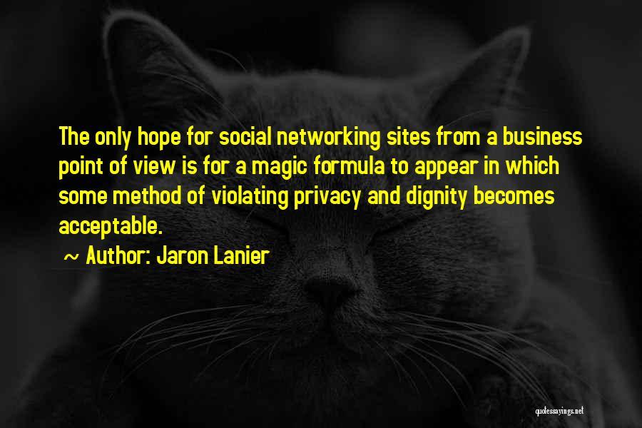 Violating Privacy Quotes By Jaron Lanier