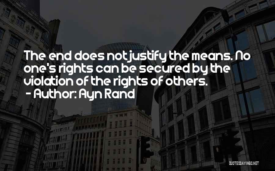Violation Of Rights Quotes By Ayn Rand