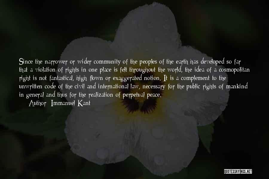 Violation Of Rights Quotes By Immanuel Kant
