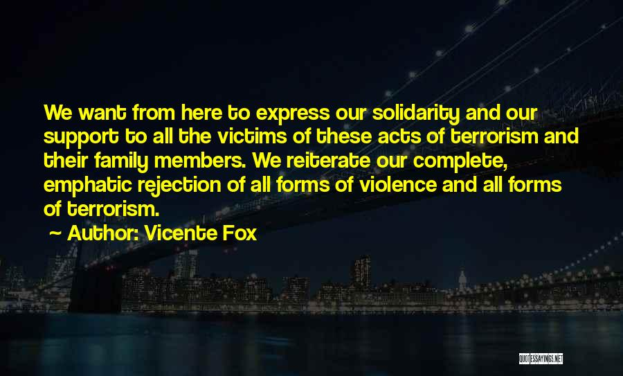Violence And Terrorism Quotes By Vicente Fox