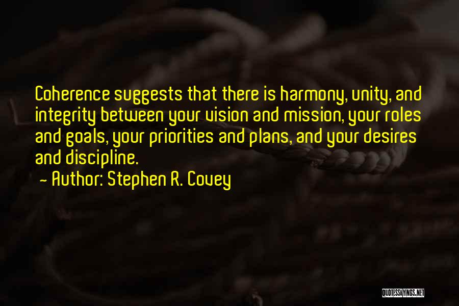 Vision Mission And Goals Quotes By Stephen R. Covey