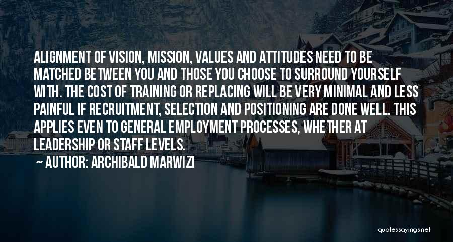 Vision Mission And Values Quotes By Archibald Marwizi
