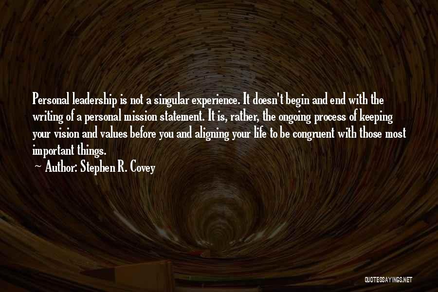 Vision Mission And Values Quotes By Stephen R. Covey