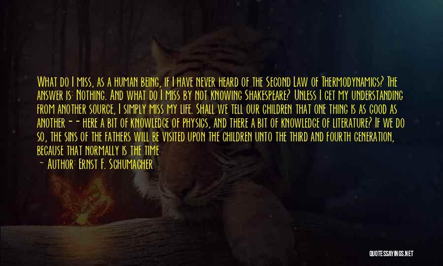 Visited Quotes By Ernst F. Schumacher