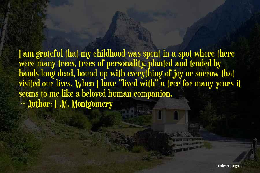 Visited Quotes By L.M. Montgomery