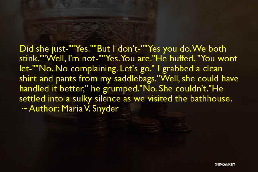Visited Quotes By Maria V. Snyder