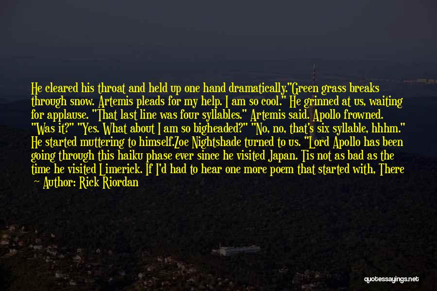 Visited Quotes By Rick Riordan