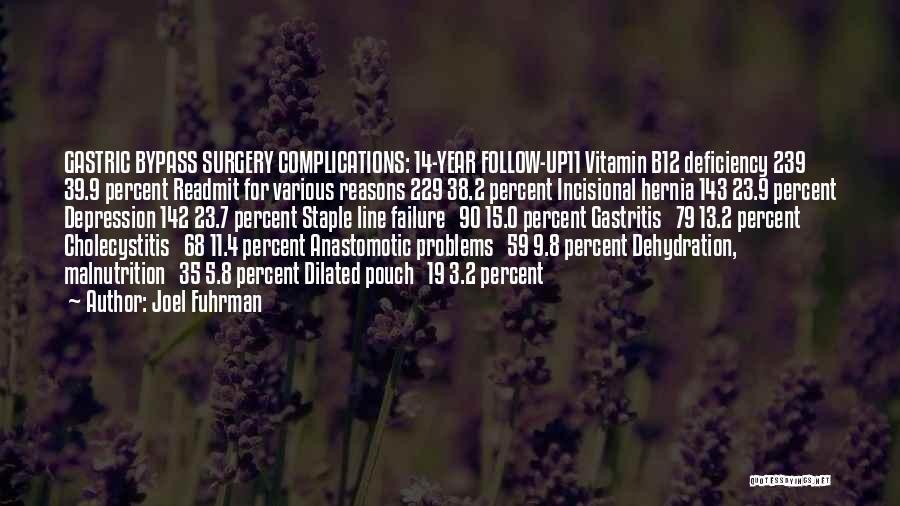 Vitamin Deficiency Quotes By Joel Fuhrman