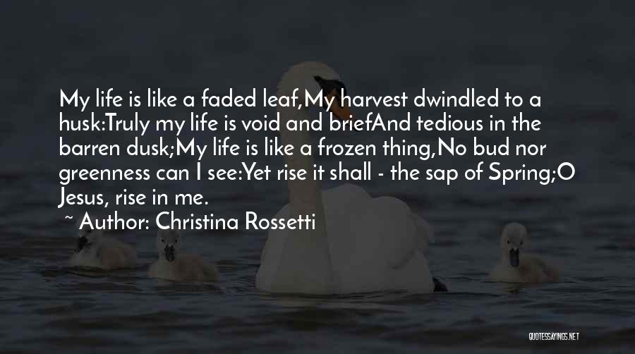 Void Life Quotes By Christina Rossetti