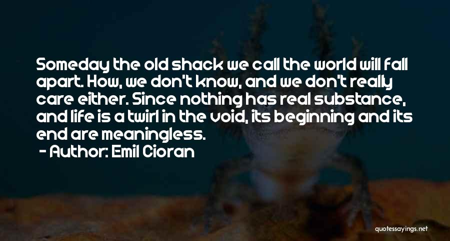 Void Life Quotes By Emil Cioran