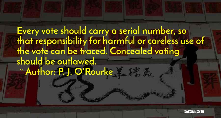Voting Responsibility Quotes By P. J. O'Rourke