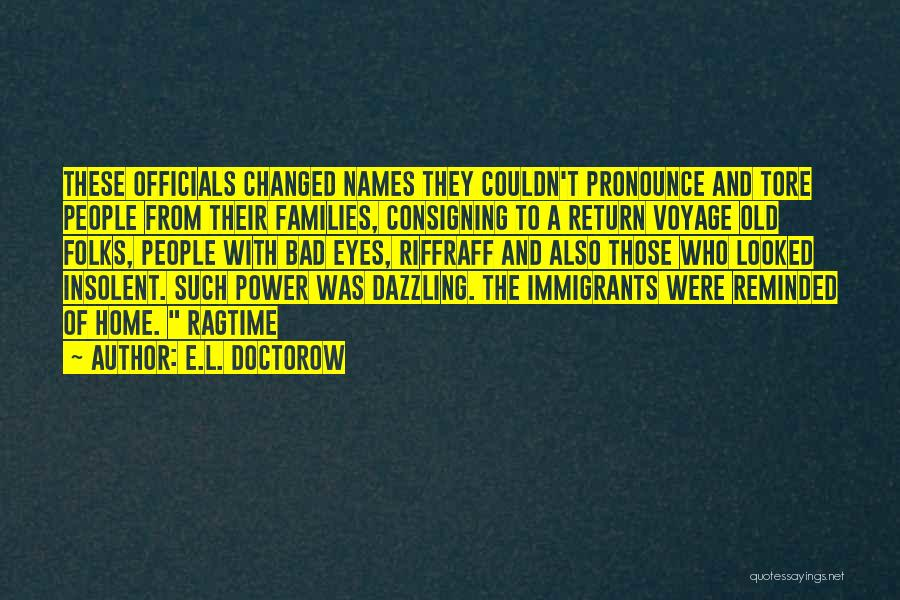 Voyage Home Quotes By E.L. Doctorow